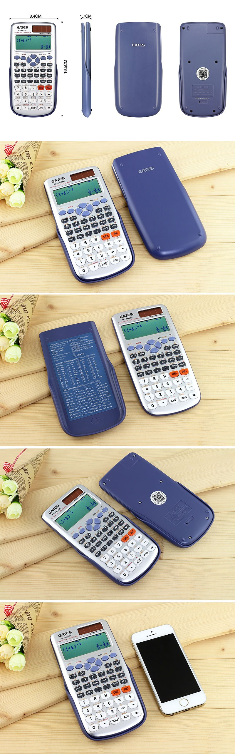 417 Functions 991ES Calculator Scientific 10+2 Digits 2 Line Display School Student Calculator