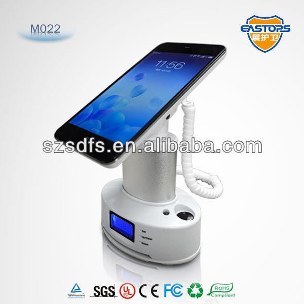 cell phone holder for desk mobile phone display alarm