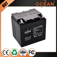High quality professional eco-friendly 12V 24ah battery rechargeable