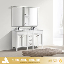 2018 Hangzhou Vermont Factory White Color Simple Home Depot Bathroom Sets Vanity