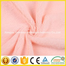 chian supplier embosed pv plush fabric with good price