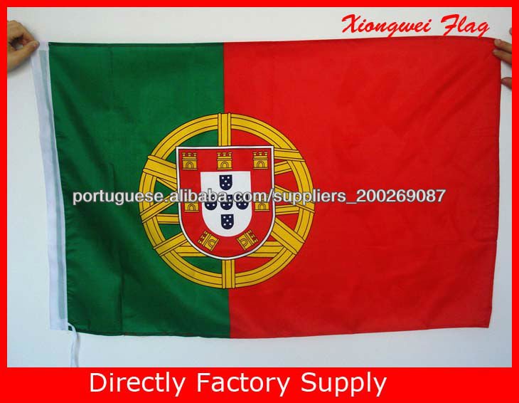 Cheap Green Red National Flag Design 100% Polyester 3X5ft Portugal Country Flag