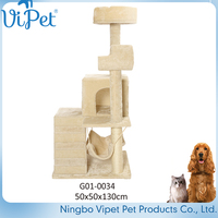 Pet Toys Type And Eco-Friendly Feature Cat Tree Condo Furniture Pet House
