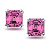 New arrival wholesale price cushion diamond earrings white gold