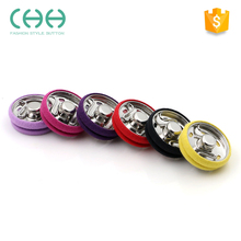 Fashionable covered metal snap fasteners press button
