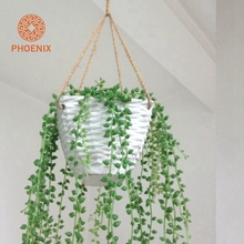 Hemp Rope Hanging Flower Pot Balcony Made From Cement