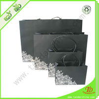 With Twist Handles High Quality Kraft Paper Shopping Bag, Black Paper Bag