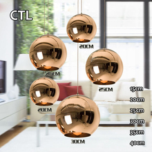 2017 new products modern pendant lighting chandeliers hanging glass copper pendant light