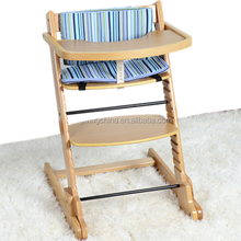 Solid Beech Wood Baby High Chair
