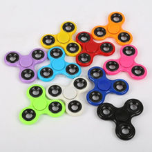 Different colors plastic material hand finger spinner