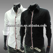 MOQ 5PCS Wholesale 2013 Collection New Mens Mercerized cotton Luxury Fashion Formal Casual Suits Slim Fit Dress Shirt