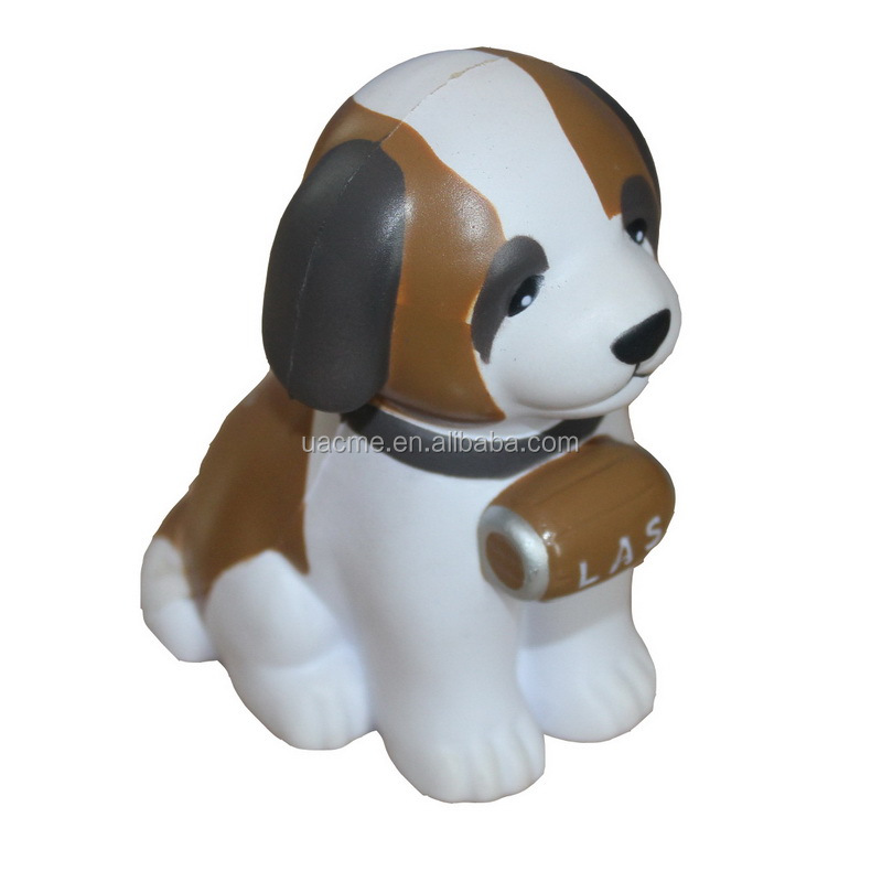 dog head shape stress toy | dog head shape anti stress ball | stress reliever in dog head shape