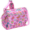 trendy fancy top qualilty pink handbags from thailand, new arrival printing goldfish handbags