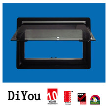 China product water roof glass caravan sliding window