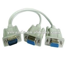 vga cable 15 pin male to double female