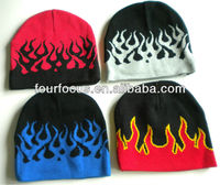 flame beanie sport ski skate snowboard hat winter mens womens hat