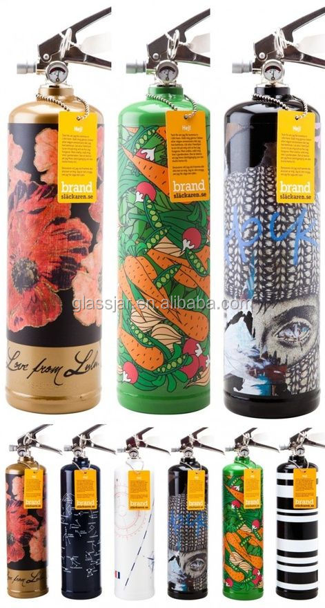1000ml printed fire fighting glass wine bottle
