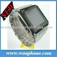 Good Waterproof watch mobile phone W818 with Quanband One Sim card Stainless Steel