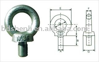 G80 galvanized lifting eye bolt