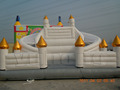 Vitage kids kind palace bounce house double lane inflatable bouncy with slide