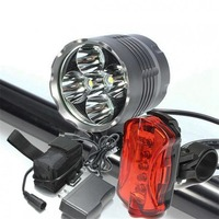 5600LM XM-L2 T6 5 LED 3 Modes Headlamp Bike Headlight+Battery Pack+charger+headband+2x Rubber ring+Bicycle Rear Light