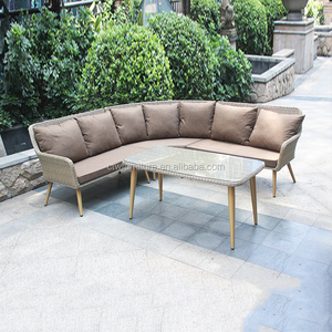 Factory best price top sale cheap imitation wicker rattan sofa set furniture for garden
