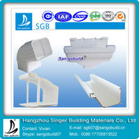 SGB brand factory direct sale PVC plastic gutter material