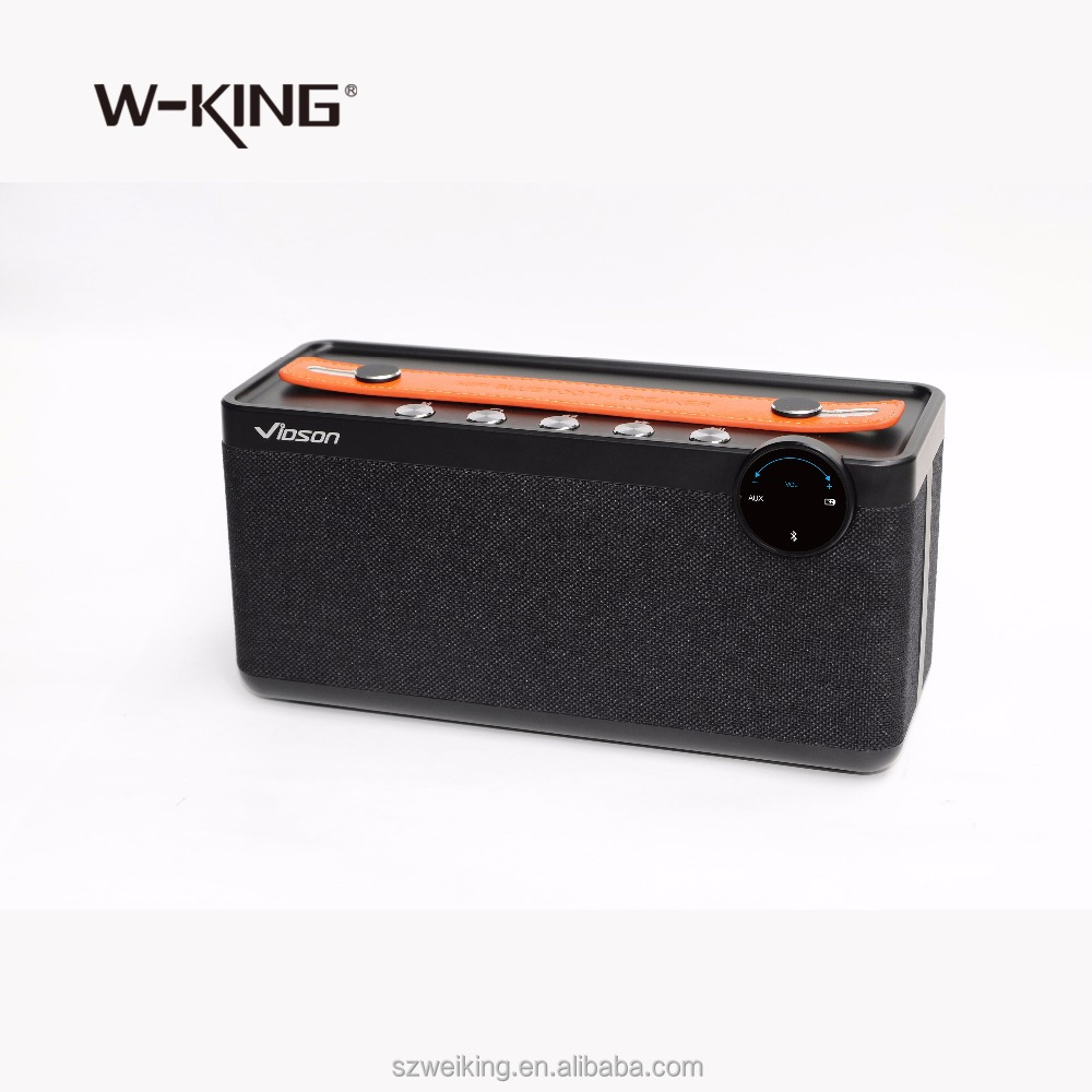 High end 2017 new design Super Bass wireless bluetooth speaker 30W with Fabric cover and handle portable speaker with DSP HIFI