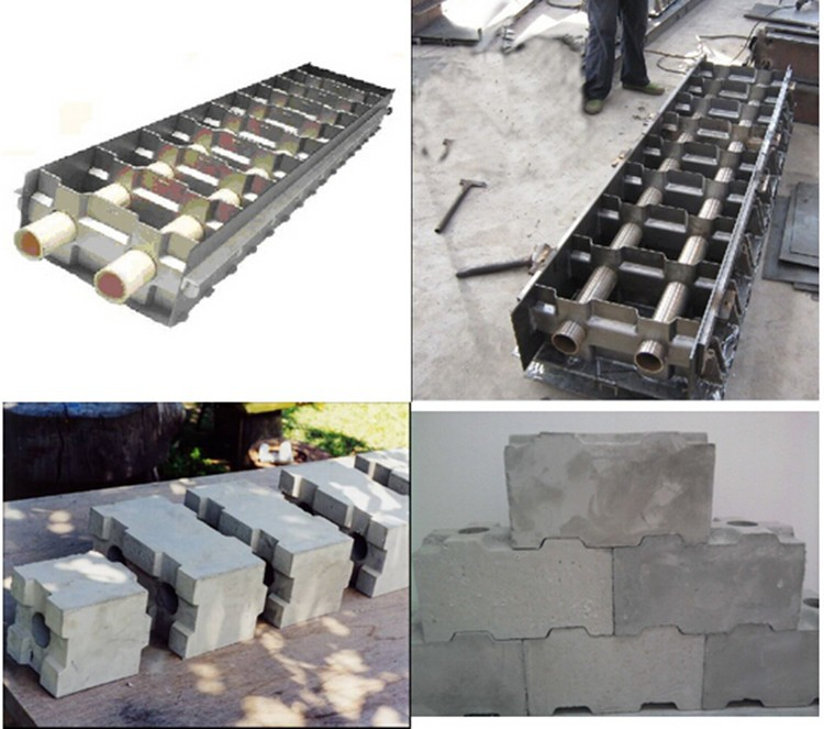 shengya brand good quality manual foam concrete hollow block mold for CLC blocks SKYPE:wuyan535