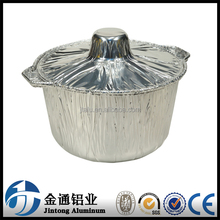 DISPOSABLE ALUMINUM POT WITH LID FOR BBQ