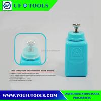 The newest Metal Pump liquid dispenser bottle 6OZ Anti static alcohol dispenser