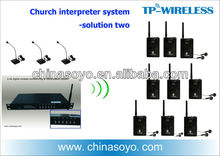 2.4 GHz RF digitale draadloze multi-channel audio vertaling Interpretatie systeem uit china fabricage, met oem service