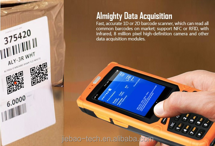 HT380A android 1D 2D barcode scanner and 3g smartphone
