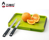 2017 new double sides non-stick cutting board with hiding 2 knives