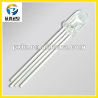 epoxy resin 5MM led diode 4 pin F5 round diode 16colors