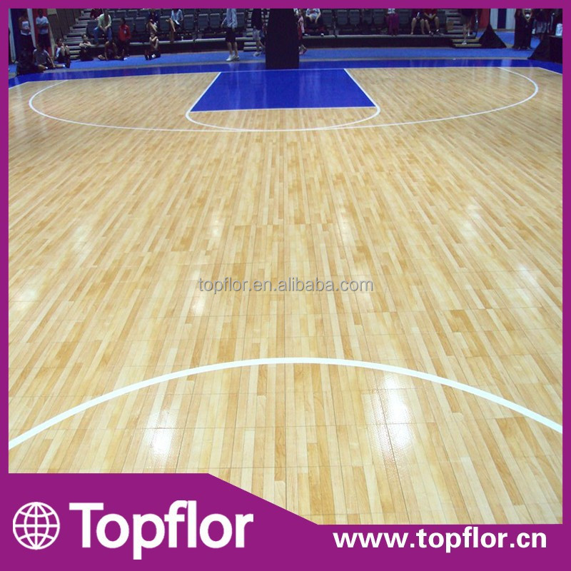 Professional Hardwood Indoor Basketball Court Sports Flooring