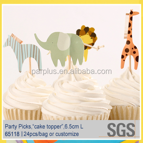 Zoo Themed Occasion Cupcake Picks for Kids party
