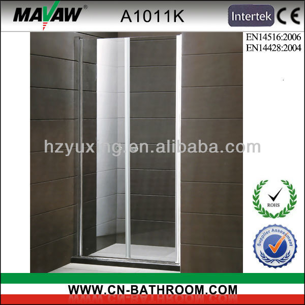 tempered glass pivot style bath screen shower screen A1011K