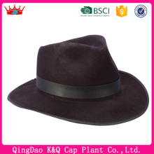 2016 factory wholesale wool felt fedora gangster hat