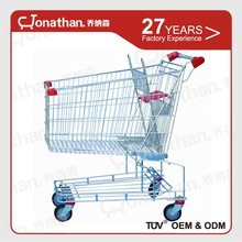 250L Alibaba Cheap Metal shopping trolley wholesale with wheels