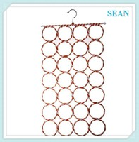 CONVENIENT 28-hole Ring Rope Slots Holder Hook Scarf Wraps Shawl Storage Hanger