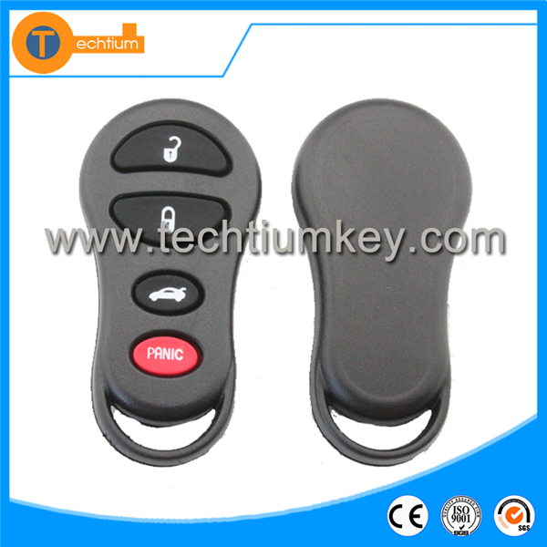 3+1 buttons remote control holder key fob case for Chrysler master key with battery holder pad NO LOGO