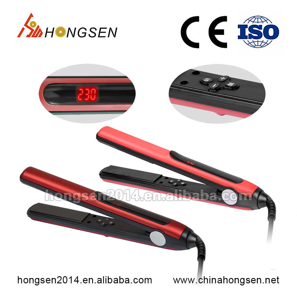 Alibaba china-electronics item lcd nano ionic hair straightener tool