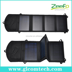 Solar power pad folding solar battery backup charger for mobile phone for 12V devices