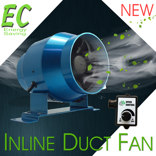 "4"" / 100mm EC Digital Inline Duct Fan Compact Design and Energy Saving"