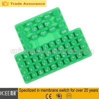 customized slim qwerty silicone rubber keyboard