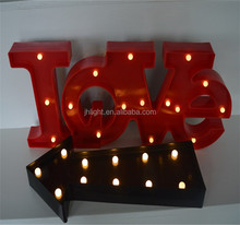"9/11 LEDs Marquee Light Arrow Sign Black Plastic Lighting Ornament/LED ""Love"" Light up Display Carnival Marquee Decoration"