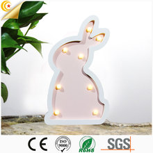 Home table decoration childrens bedroom soft light cartoon bunny night light kids