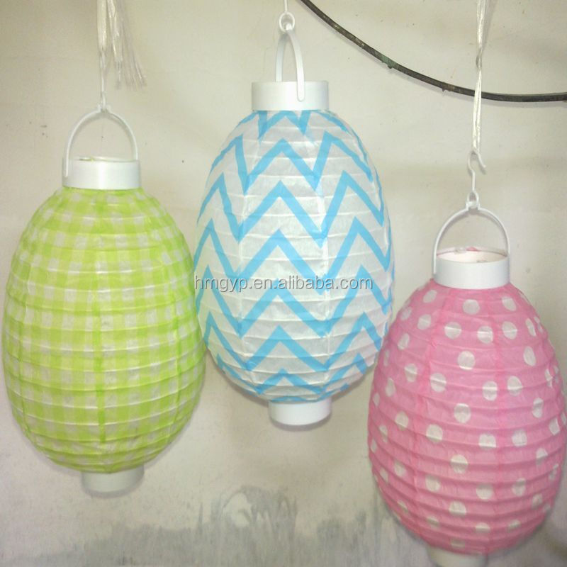 Easter decoration paper lantern, easter egg paper lanterns for easter day decor
