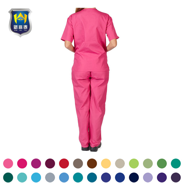New Style Designs Women Men Nurse Print Set Tops Medical Scrub Uniform Suit